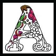Design Works Crafts Zenbroidery - Letter A Embroidery Fabric
