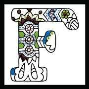 Design Works Crafts Zenbroidery - Letter F Embroidery Fabric
