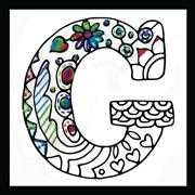 Design Works Crafts Zenbroidery - Letter G Embroidery Fabric