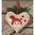 Permin Santa Claus Heart Bag Christmas Cross Stitch Kit