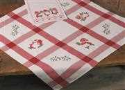 Permin Elf and Gift Tablecloth Christmas Cross Stitch Kit