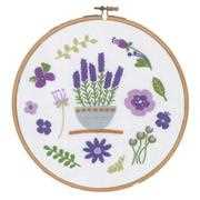 Vervaco Lavender Floral Embroidery Kit