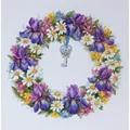 Merejka Wreath with Irises Floral Cross Stitch Kit
