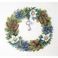 Merejka Winter Wreath Floral Christmas Cross Stitch Kit