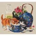 Merejka Kittens & Milk Cross Stitch