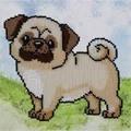 VDV Pug-Dog Embroidery Kit