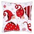 Vervaco Christmas Gnome Cushion 1 Cross Stitch Kit