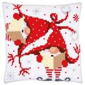 Vervaco Christmas Gnome Cushion 2 Cross Stitch Kit