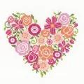 Vervaco Floral Heart Wedding Sampler Cross Stitch Kit