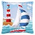 Vervaco Lighthouse Cushion Cross Stitch Kit