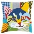 Vervaco Modern Cat Cushion Cross Stitch Kit