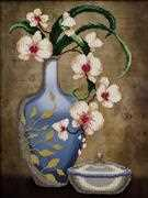 VDV Orchids in a Vase Embroidery Kit