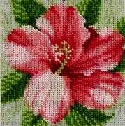VDV Hibiscus Floral Embroidery Kit