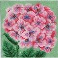 VDV Pink Hydrangea Floral Embroidery Kit