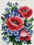 VDV Poppies and Cornflowers Floral Embroidery Kit