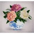 VDV Floral Sketch Carnations Embroidery Kit