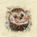 RIOLIS Little Hedgehog Cross Stitch Kit