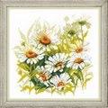 RIOLIS Chamomiles Floral Cross Stitch Kit