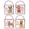 Dimensions Christmas Pups Ornaments Cross Stitch Kit