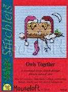 Mouseloft Owls Together Christmas Card Making Cross Stitch Kit