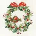 Bothy Threads Robin Wreath Christmas Cross Stitch Kit