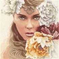 Lanarte Enchanting Eyes Floral Cross Stitch Kit