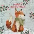 Bothy Threads Xmas Fox Christmas Card Making Cross Stitch Kit