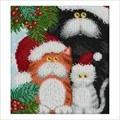 VDV Christmas Cats Embroidery Kit