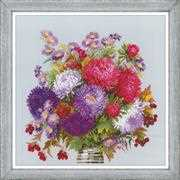 RIOLIS Bouquet with Asters Floral Cross Stitch Kit