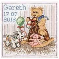 Anchor Teddy Sampler Birth Sampler Cross Stitch Kit