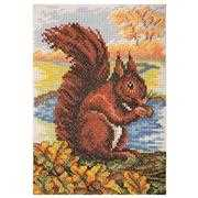 Anchor Red Squirrel Cross Stitch Kit