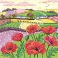 Heritage Poppy Landscape - Evenweave Cross Stitch Kit