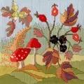 Derwentwater Designs Seasons - Autumn Floral Long Stitch Kit