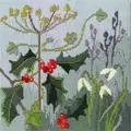 Derwentwater Designs Seasons - Winter Floral Christmas Long Stitch Kit