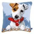 Vervaco Jack Russell Cushion Cross Stitch Kit