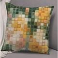 Permin Pixel Cushion - Green Cross Stitch Kit