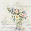 Lanarte Bouquet of Flowers Floral Cross Stitch Kit