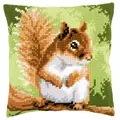 Vervaco Squirrel Cushion Cross Stitch Kit