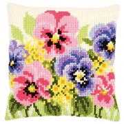 Vervaco Violets Cushion Floral Cross Stitch Kit