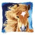 Vervaco Brown Horse Cushion Latch Hook Kit
