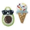 VDV Avocado and Ice Cream Brooches Craft Kit
