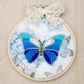 VDV Blue Butterfly Embroidery Kit