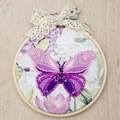 VDV Pink Butterfly Embroidery Kit