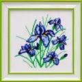VDV Irises Floral Cross Stitch Kit