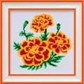 VDV Marigold Floral Cross Stitch Kit