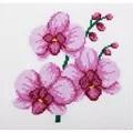 VDV Pink Orchids Cross Stitch Kit