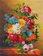 VDV Autumn Flowers Floral Embroidery Kit