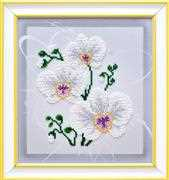 VDV White Orchid Embroidery Kit