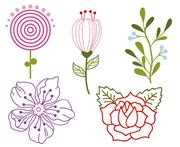 VDV Flowers Floral Embroidery Kit