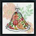 Design Works Crafts Corset Dress Floral Cross Stitch Kit